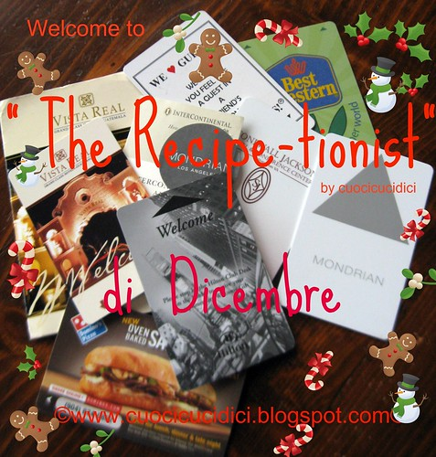 the recipe-tionist banner dicembre