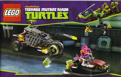 "LEGO Teenage Mutant Ninja Turtles :: ""Stealth Shell in Pursuit"" ; manual i (( 2013 )) by tOkKa"