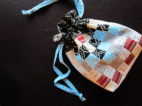one last patchwork pouch