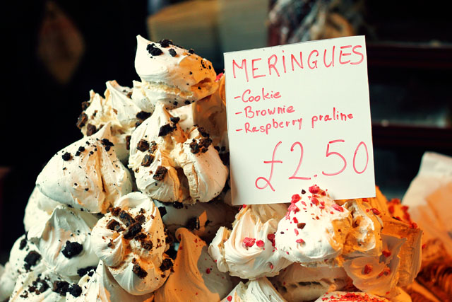 Meringues at Borough Market