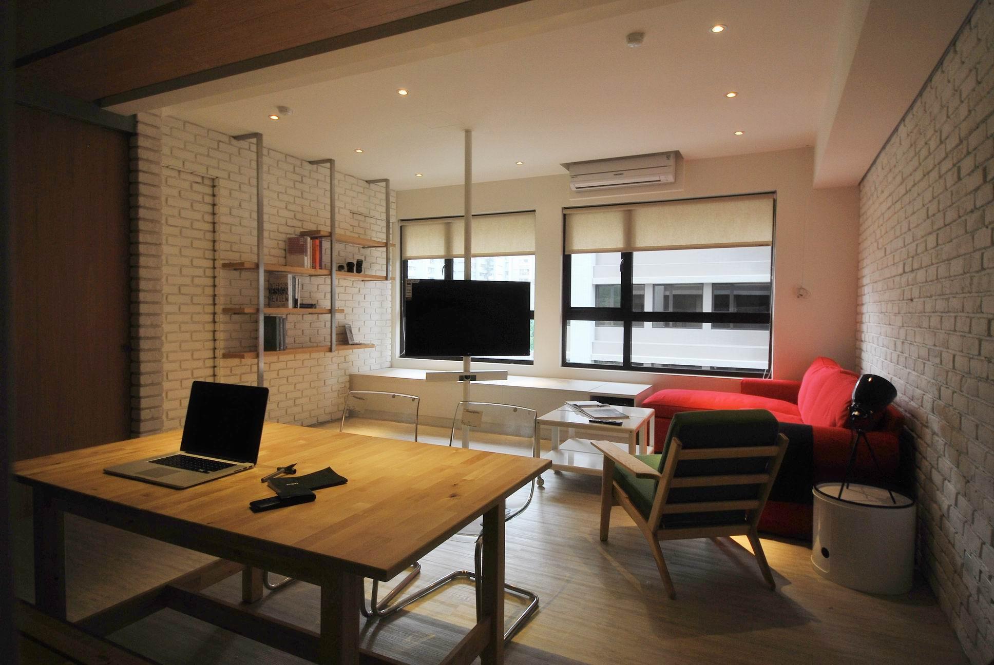 住宅設計-美式LOFT風客廳