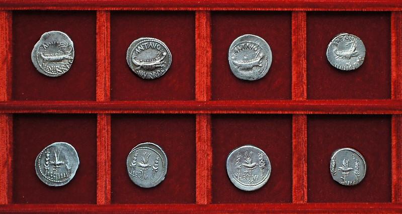 RRC 544-16-18-19-20 LEG IIII, LEG V, LEG VI, LEG VII Antony legions, Ahala collection Roman Republic
