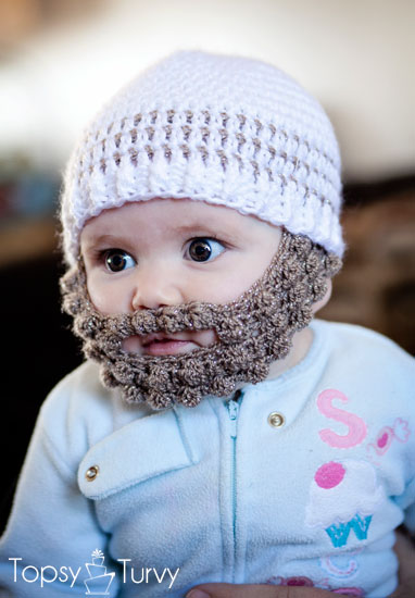 Beanie Hat With Beard Crochet Pattern Free : Crochet Bobble Beard pattern ? multiple sizes! Nifymag.com