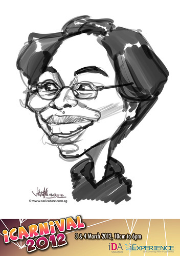digital live caricature for iCarnival 2012  (IDA) - Day 2 - 21