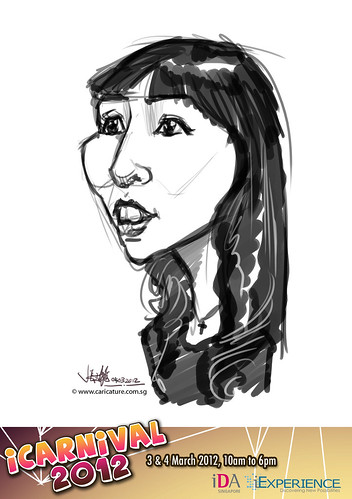 digital live caricature for iCarnival 2012  (IDA) - Day 2 - 35