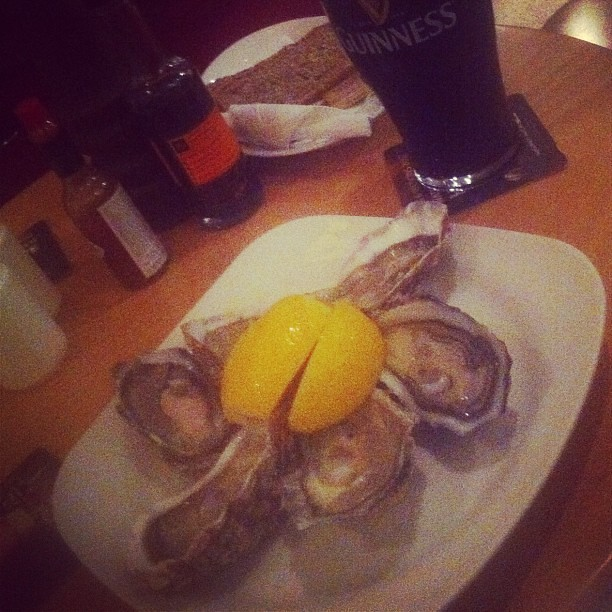 Oysters and a pint