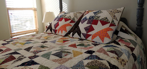 Scrappy Quilt and New Pillow Shams
