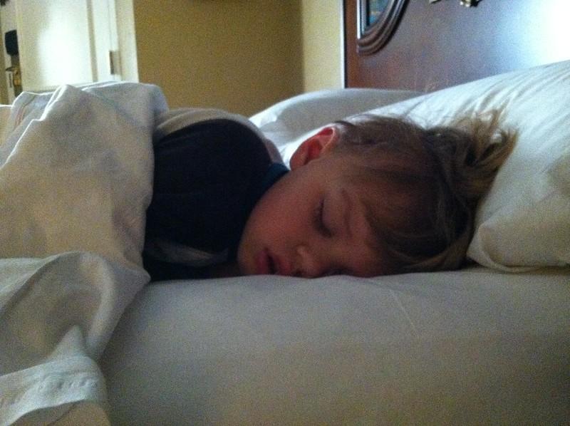 B sleeps