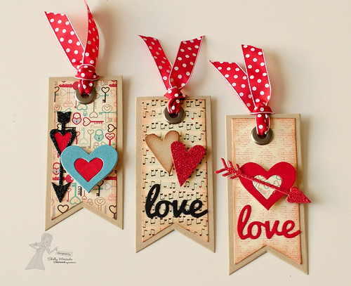 TE Cupid's Arrows, Banner Stacklets 1 & Love Tree dies