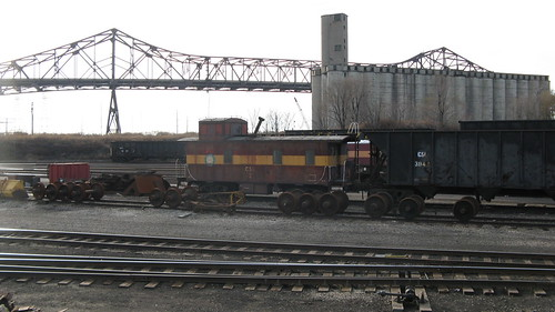 Chicago Shortline Railroad caboose.  Chicago Illinois.  Sunday, November 25th, 2012. by Eddie from Chicago