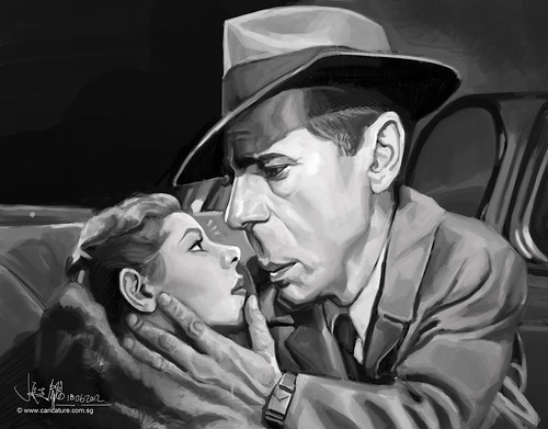 digital caricature painting of Bogart Hemphrey - 3