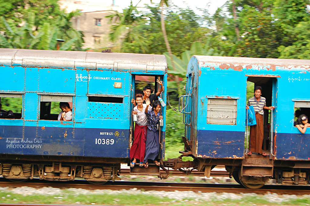 Old Train, Yangon, Burma