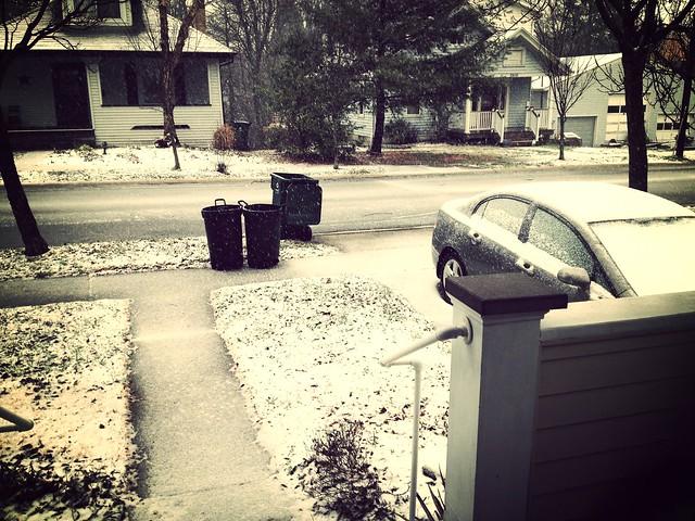 Snow starting
