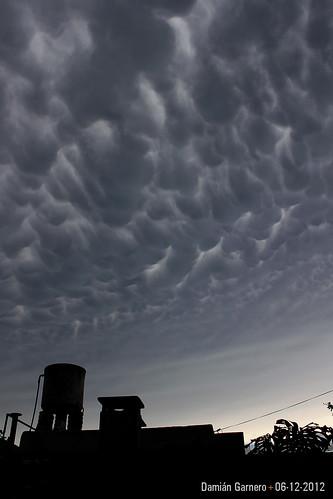 Cañada de Gómez y la tormenta