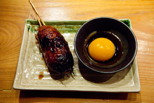 Special kitchen meatball with fresh egg yolk sauce