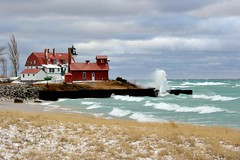Point Betsie Lighthouse Crystalia, Michigan by Michigan Nut