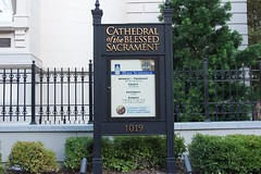 Cathedral of the Blessed Sacrament Sign