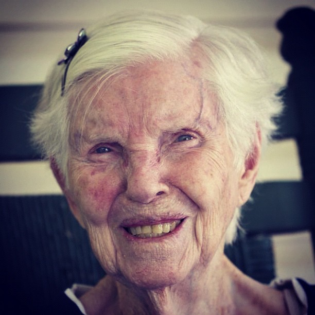 My sweet, 92 year-old, grandmother.