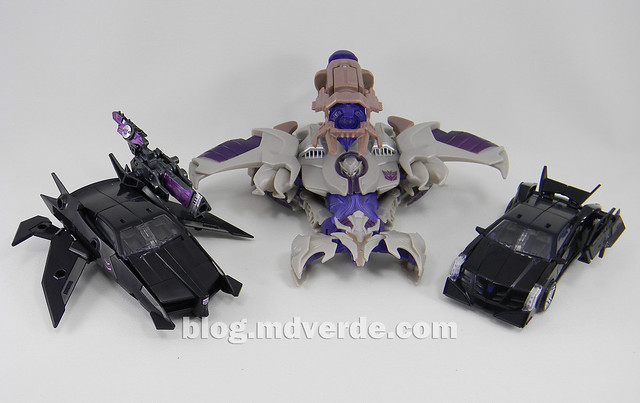 Transformers Jet Vehicon Deluxe - Prime Arms Micron - modo alterno vs Vehicon RiD vs Megatron