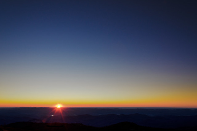 Sunrise at Black Balsam Knob
