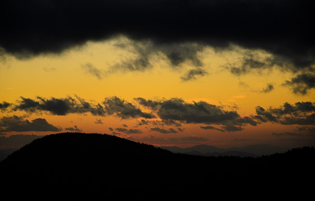 Sunset at Black Balsam Knob