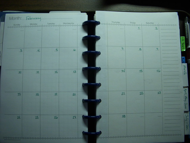 diy circa planner levenger calendar scheduler pages