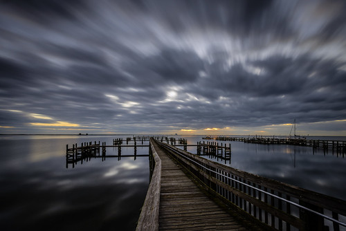 longexposure usa water sunrise river landscape dawn pier dock lowlight day florida cloudy titusville centralflorida merrittislandnationalwildliferefuge architectureandbuildings minwr