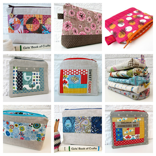 zippered pouches 2012