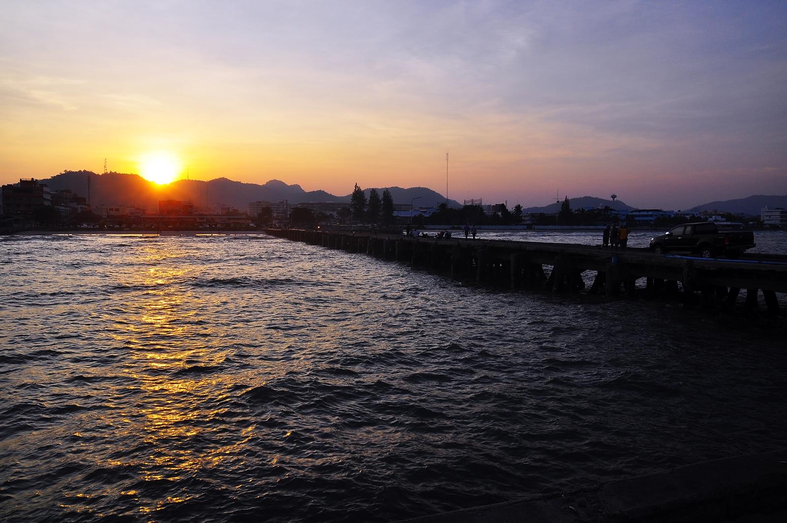 Sunset at the Hua Hin Pier