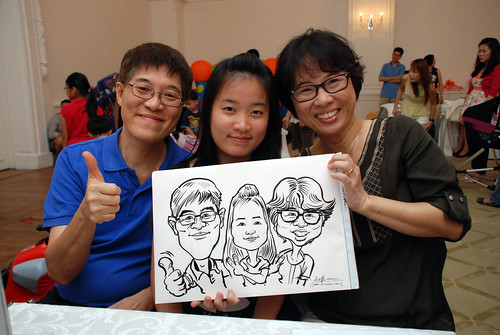 caricature live sketching for birthday party 28042012 - 8