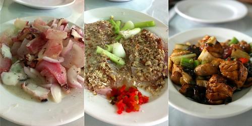 Tres platos de lenguado chez Wong