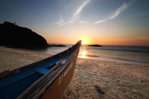 sunset india beach landscape boat sand karnataka udupi mangalore kaup kapu arabiansea sigma1020mm canoneos7d