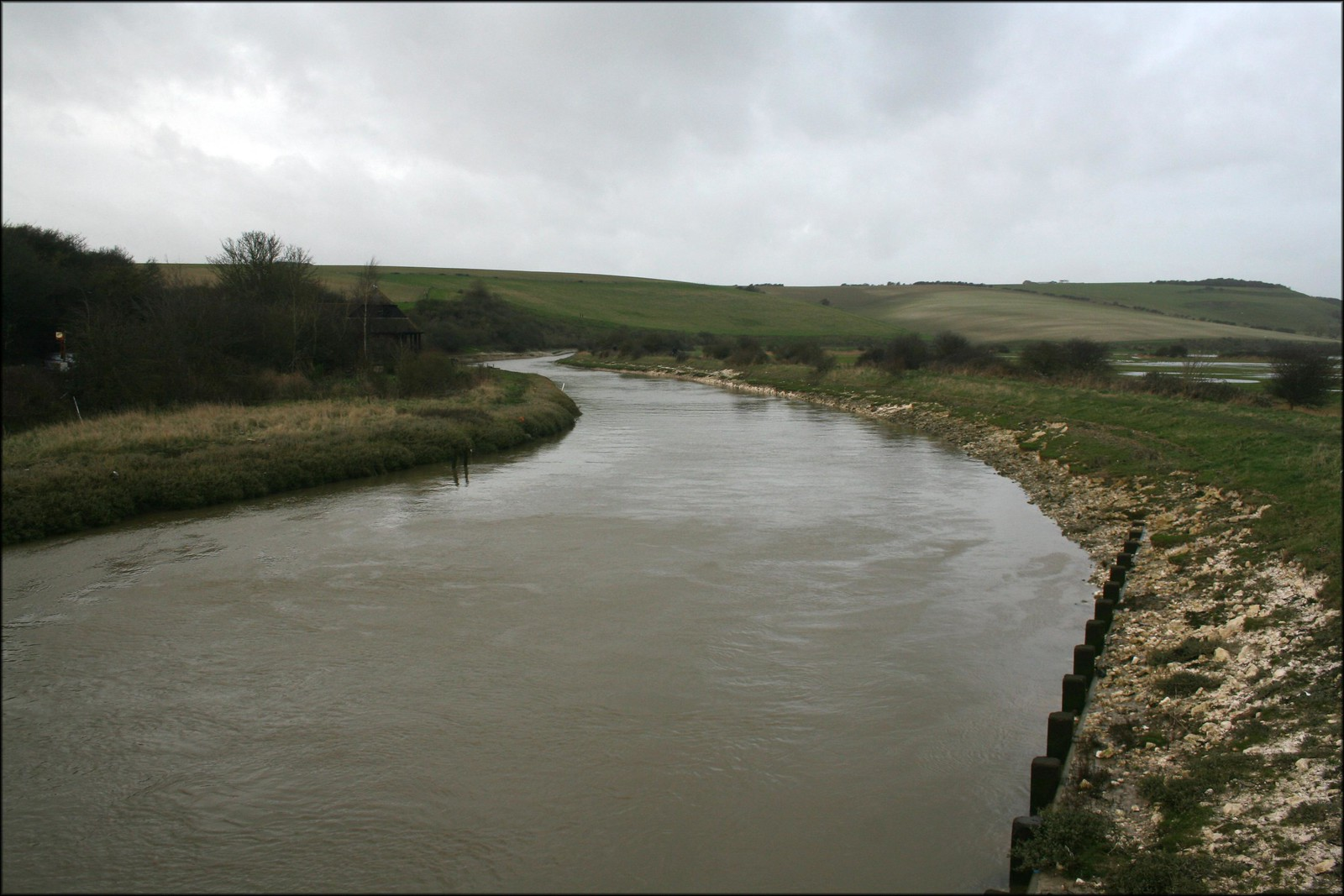 The Cuckmere River near Cuckmere Haven