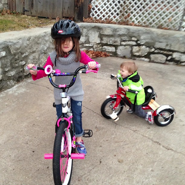 Bike lessons.