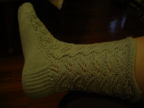 Feather sock detail