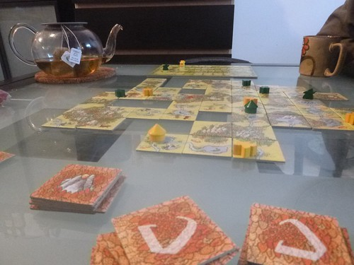 2013.01.13 - a lively game of Carcassonne