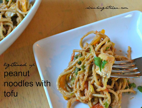 lightened up peanut noodles with tofu