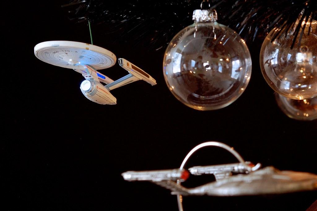 USS Enterprise-A On The Star Trek Christmas Tree 2012