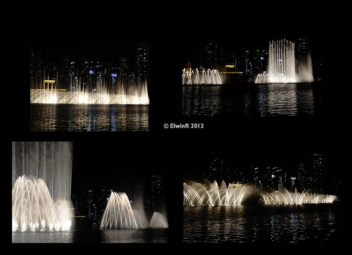 Dubai 2012-01 Burj Khalifa park, fountains at night