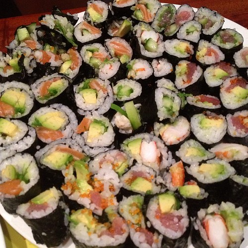 need more practice at the #sushi rolling, but not the eating!