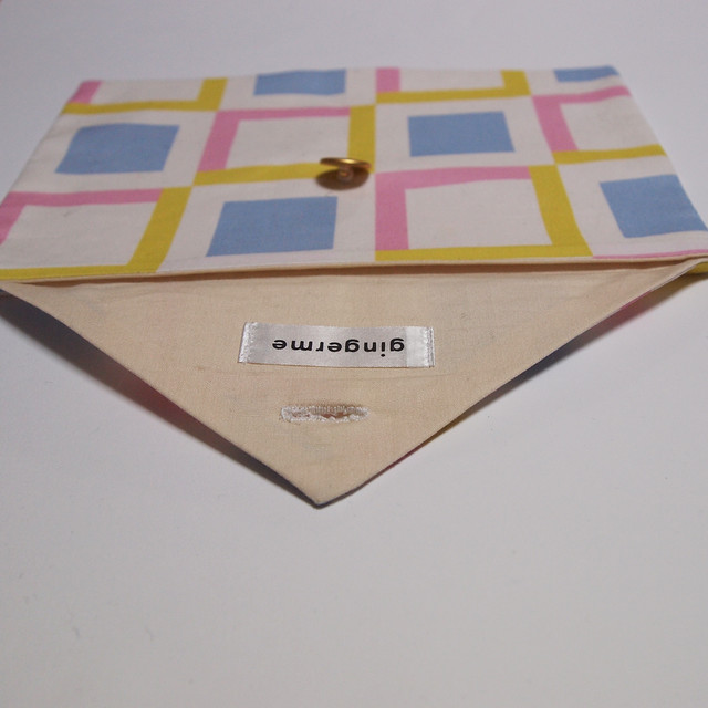 envelope pouch - squares in squares