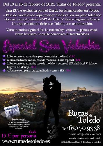 """Evento especial """"San Valentín"""" 2013 en Rutas de Toledo"""