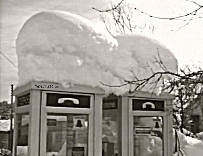 cabines téléphoniques sous la neige des 30 et 31 janvier 1986 météopassion