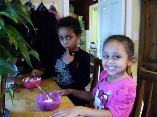 Kids and ice cream