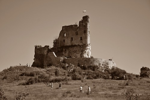 trailoftheeaglesnests szlakorlichgniazd zamek castle building architecture wyżynakrakowskoczęstochowska landscape view sepia summer history old
