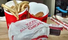 Chicken Sandwich, Chicken Nuggets, Fries And BBQ S…