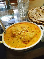Indian curry and chapattis