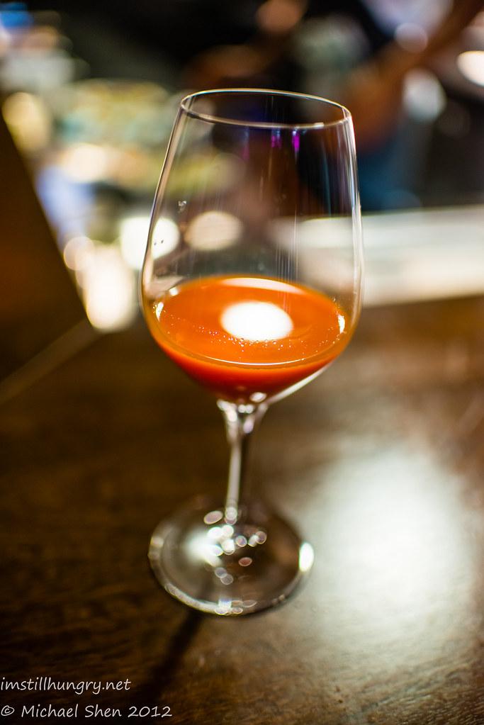 Momofuku Seiobo carrot juice