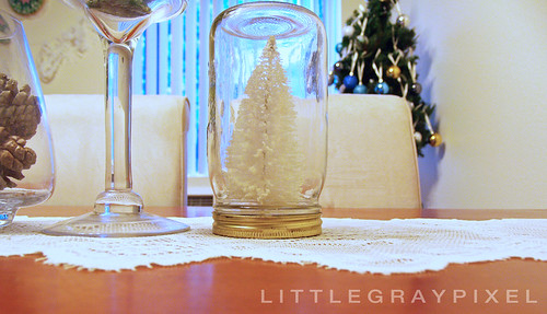 diy trees in a mason jar