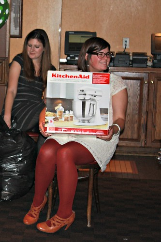 um yeah, a little happy about the orange stand mixer